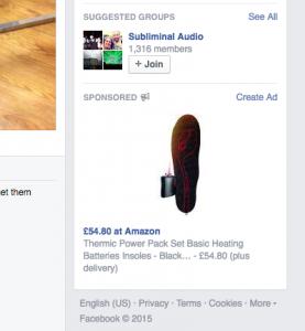 Amazon Ad on Facebook Online Marketing