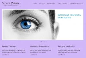Website Design for Simone Viniker Colorimetry by Bristol Marketing