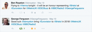 Bristol Eurovision Mayor George Ferguson